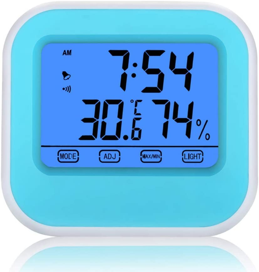 Indicateur de Confort Hydrometre Moniteur de Temp/érature pour Chambre B/éb/é Maison Bureau Blanc NIXIUKOL Thermometre Interieur Hygrometre Thermom/ètre Digital Fiable avec Grand Ecran Tactile