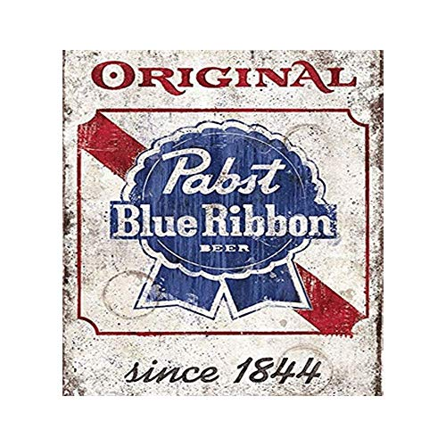 Easy Painter Original Pabst Blue Ribbon Beer Retro Metal Tin Sign Poster Home Bar Plate Cafe Pub Motel Art Wall Decor 11.8x11.8 inch