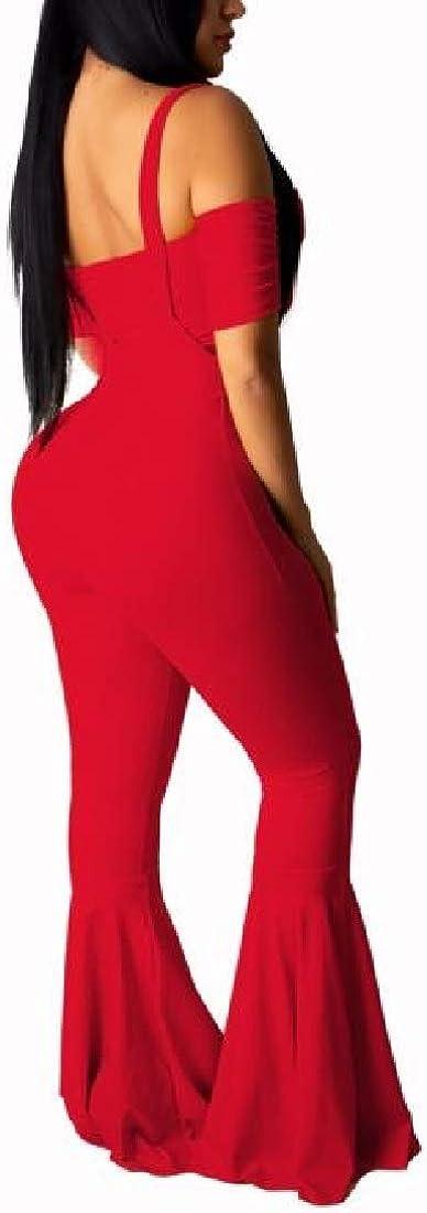 YIhujiuben Women Bra Crop Tops Wide Leg Long Pants Jumpsuits 2 Piece Outfits