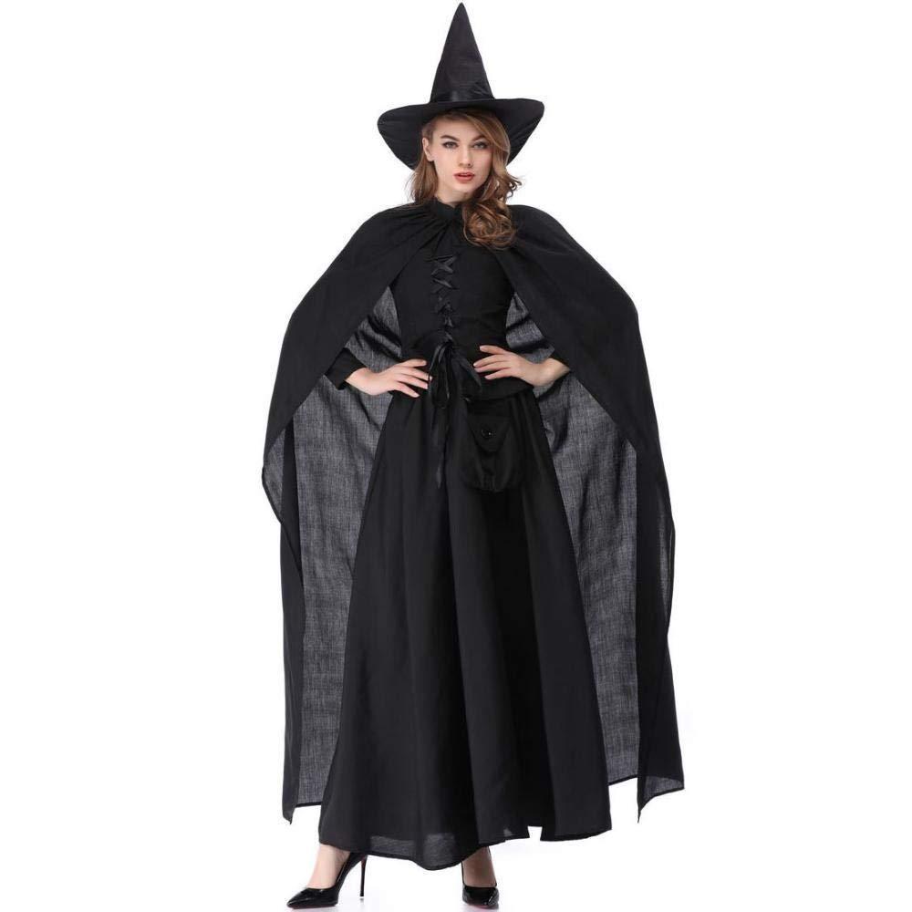 Ambiguity Halloween Damen kostüm Halloweenkostüm Umhang Königin Hexe Kleid Cosplay Kostüm Abendkleid
