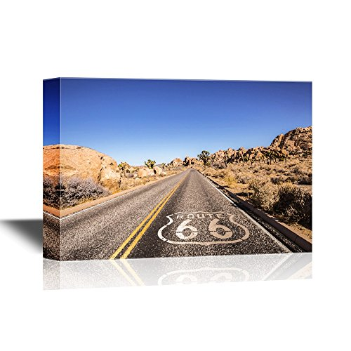 Route 66 with Blue Sky