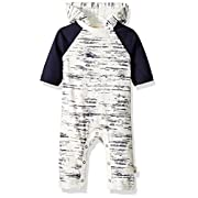 Burt's Bees Baby Baby Boys' Peering Light Hooded Coverall, Midnight, 0-3 Months