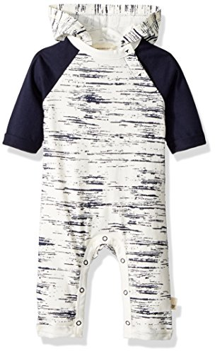 Burt's Bees Baby Boys' Romper Jumpsuit, 100% Organic Cotton One-Piece Coverall, Midnight Peering Light Hooded, 18 Months by Burt's Bees Baby