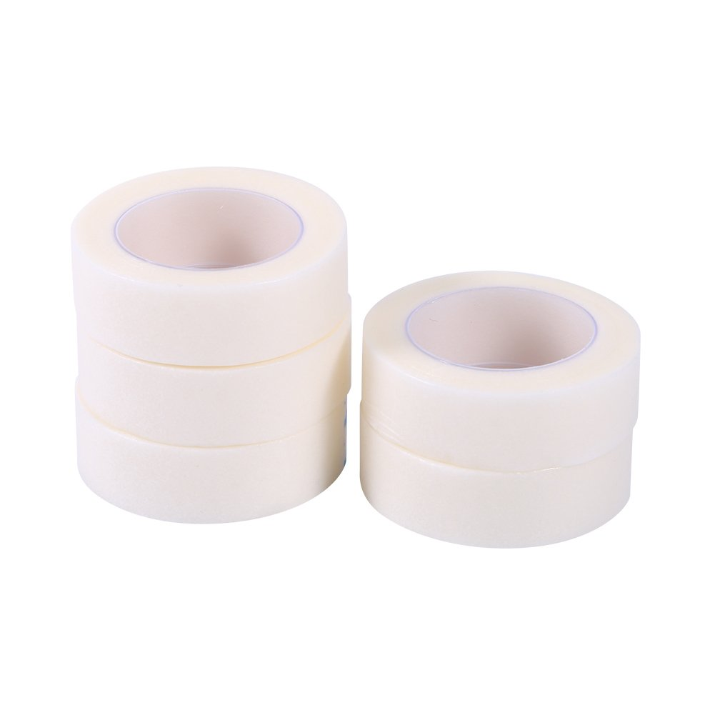 Nonwoven Eyelash Sticker, Asixx 5 Rolls Eyelash Eye Lash Individual Extension Tools Supply Medical Tape, 100% Brand New and high quality, 5 x non-woven medical tape