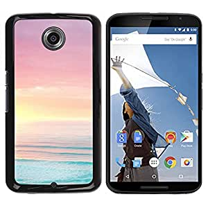 "Pulsar Snap-on Series Teléfono Carcasa Funda Case Caso para Motorola Google NEXUS 6 / XT1100 , Mar Océano Summer Sun Beach Purple"""