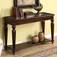 Windsor Sofa Table, Dark Cherry