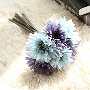 FYYDNZA Artificial Flowers Wedding Decoration 7Pcs/Lot Daisy Flowers Flowers Artificial Plants Fake Flowers Bouquet Home Decor 56