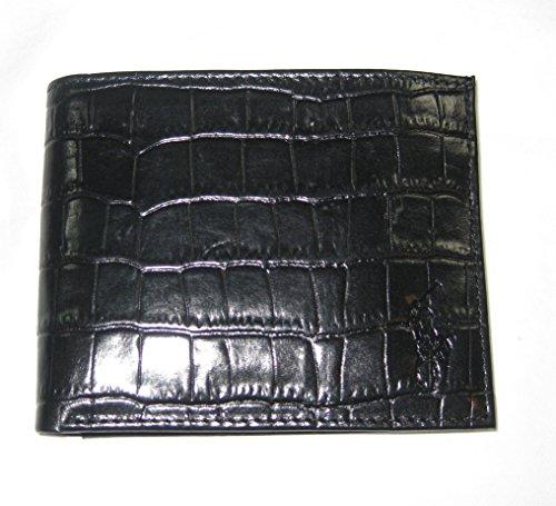 Ralph Lauren Croc Embossed Leather ID Passcase Wallet (Ralph Lauren Croc)