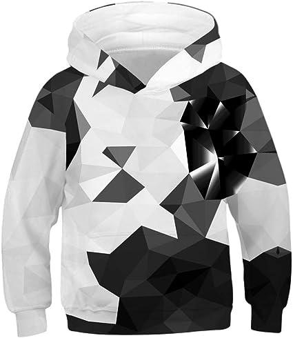 NINGSANJIN Jungen Pullover Hoodies Kapuzenpullover 3D Crop-Top Neuheit Jumper Kinder Sweatshirts Mit Taschen 4-13T