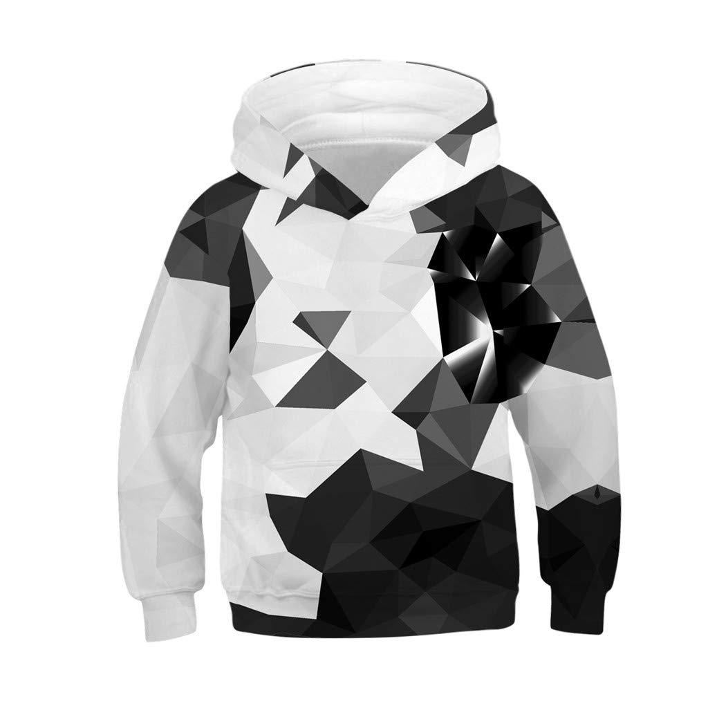 i-uend 2019 Jungen Mantel - Teen Kinder Mä dchen Jungen Galaxy Fleece Realistische 3D Digital Print Pullover Hoodie Kapuzenpulli Fü r 4-13 Jahre