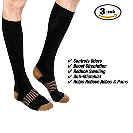 fcaea583a0 Amazon.com: Foot Dr Thera Infused Copper Pain Relieving Compression ...