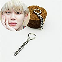 paweena 1PC KPOP BTS Jimin Earrings Bangtan Boys Ring Chain Love Yourself Fashion