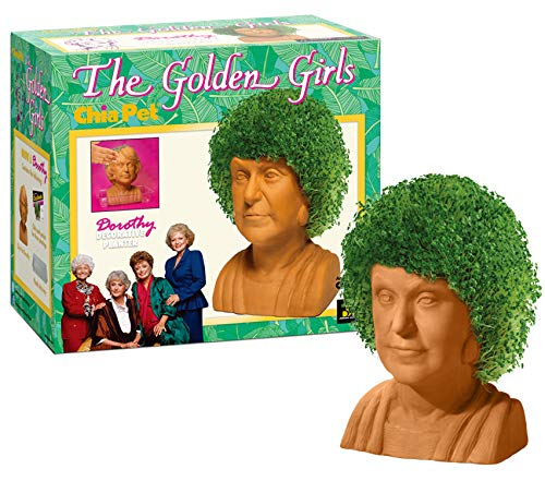 Chia Pet The Golden Girls - Dorothy Decorative Pottery Planter, Easy to Do and Fun to Grow, Novelty Gift, Perfect for Any Occasion