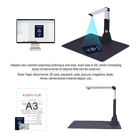YWT Escáner de Documentos, portátil USB Ajustable Imagen de Libro ...