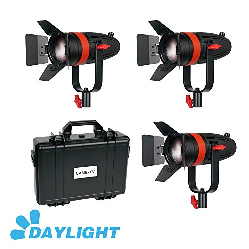 3 Pcs CAME-TV Boltzen 55w Fresnel Focusable LED Daylight Kit