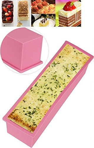 1.2L Rectangle Loaf Toast Bread Pastry Cake Soap Silicone Mold - 2