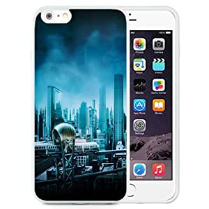 Beautiful Unique Designed Cover Case For iPhone 6 Plus 5.5 Inch With Gotham City White Phone Case