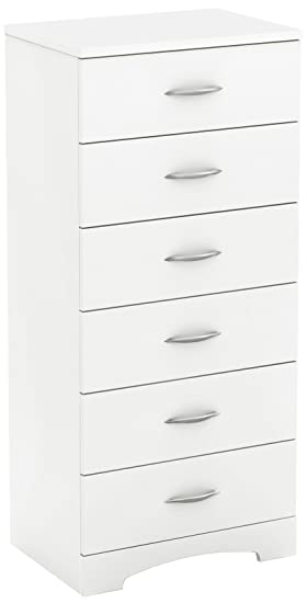 South Shore Muebles - Cajonera de 6 cajones, Pure White ...