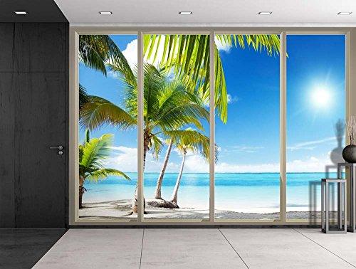 Large Wall Mural Palm Trees Beach Peel Amp Stick 3d Vinyl