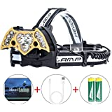 Best Online Led Headlamp High Power 6modes Super Bright Bat shaped Headlights Adjustable Rechargeable Batteries For Camping Hiking Fishing Running Cycling Reading Usb Headlamps T6 Head Light 10000 Lum