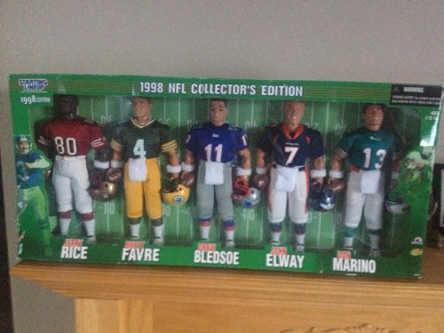 Starting Lineup 1998 NFL Collector's Edition Rice Favre Bledsoe Elway Marino by Starting Lineup