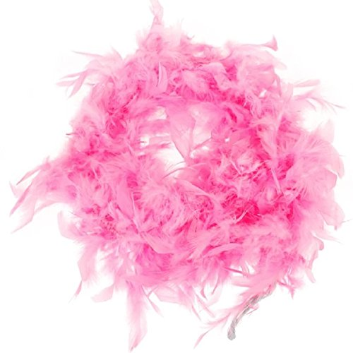 RoseSummer Pink Feather Boa Fluffy Craft Decoration 6.6 Feet Long for $<!--$4.09-->