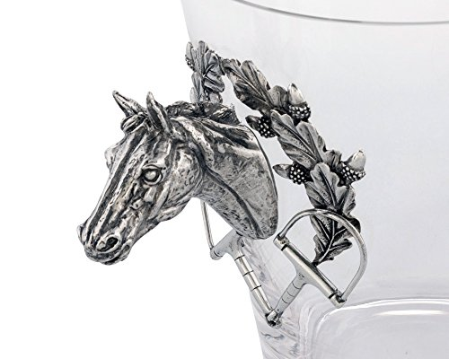 Vagabond House Handblown Glass Ice/Wine Bucket with Pewter Horse Head Handles, 11'' Tall by Vagabond House (Image #3)