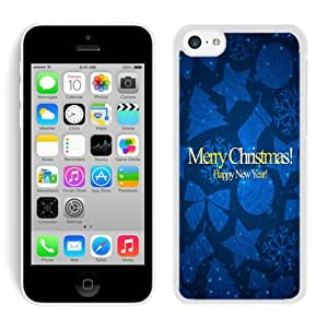 Niche market Phone Case Iphone 5C TPU Case Merry Christmas happy new year White iPhone 5C Case 1