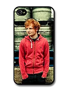 AMAF ? Accessories Ed Sheeran Red Hoodie Posing case for iPhone 4 4S wangjiang maoyi