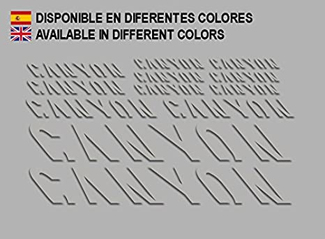 Ecoshirt JP-XB6O-GBET Pegatinas Canyon F157 Vinilo Adesivi Decal ...