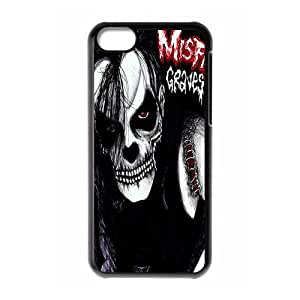 Classic Band&The Misfits Theme Case Cover for iPhone 5C- Personalized Hard Cell Phone Back Protective Case Shell-Perfect as gift