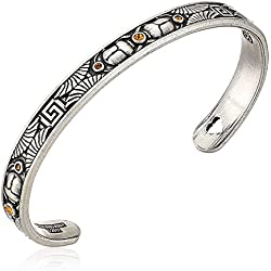 Alex and Ani Scarab Cuff Bangle Bracelet, Rafaelian Silver, Expandable