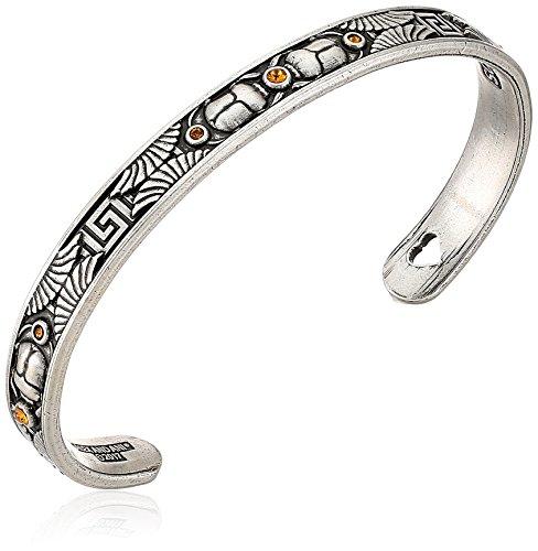 Alex and Ani Scarab Cuff Bangle Bracelet, Rafaelian Silver, Expandable