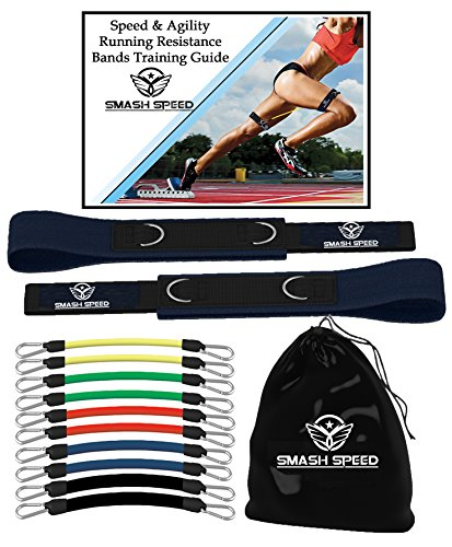 Smash  Speed & Agility Leg Resistance  – Training Exercise Guide – Physical Fitness Workout Set – Mobility Loop, Muscle Endurance, Sport Specific - Football, Basketball, Track, Soccer