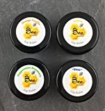 Natural Beeswax Lip Balm (4pk) - Orange Vanilla, Peppermint Rosemary, Lemon, and Pure (Unflavored)