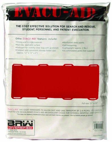 North by Honeywell 4499920 Evacu-Aid Stretcher-Folded, 12x16x2 - Open 72x27