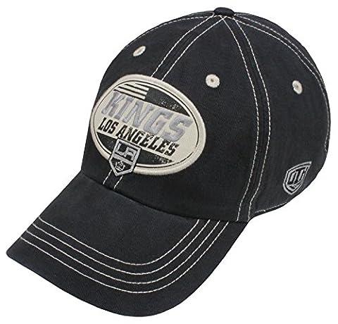 NHL Los Angeles Kings Men's Angus Slouch Adjustable Hat, One Size, Black (Los Angeles Kings Hat 47)