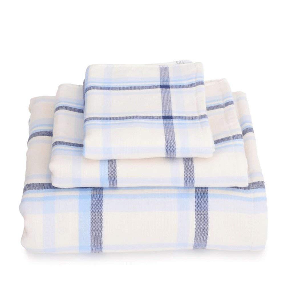 バスルームの必需品, ソリッドコットン増粘吸収剤入浴剤スリーピース1 +入浴剤1 +カーチフ* 1(色:A) (色 : A) B07QS1P29B A