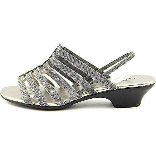Karen Scott Womens Estevee Sandali Slingback Casual A Punta In Peltro