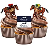 Horse Racing Newbury Mix - Edible Stand-up Cupcake Toppers by AKGifts