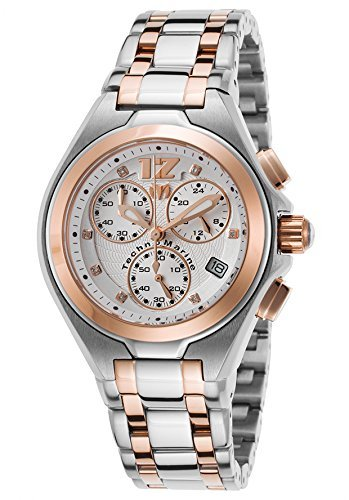 Technomarine Tm-215020 Women's Manta Neo Classic Diam Chrono Two-Tone Ss Rose-Tone Accents Ss Watch