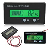 Digital Multimeter, LCD Display Battery Capacity Voltmeter Meter Monitor 6-70V Multi-fuction Meter Battery Indicator Monitor Module Electric Quantity Detector Reader for Car Vehicle