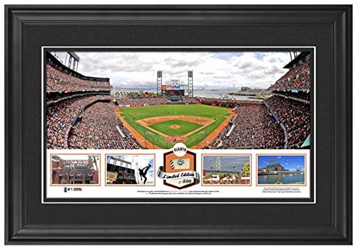 att-park-san-francisco-giants-framed-stadium-panoramic-with-game-used-ball-limited-edition-of-500-fa