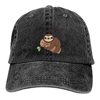 LeoCap Hate Sloth Baseball Cap Unisex Washed Cotton Denim Hat Adjustable Caps Cowboy Hats Black