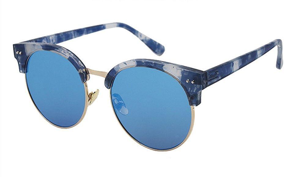 AOBISENG/®Vintage Half Frame Horn Rimmed Sunglasses