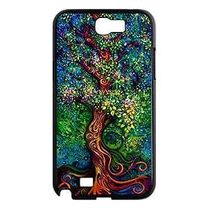Diy Love Tree of Life Phone Case for samsung galaxy note 2 Black Shell Phone JFLIFE(TM) [Pattern-1] Kimberly Kurzendoerfer
