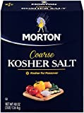 Morton Coarse Kosher Salt Box, 3 Pound (Pack of 12)