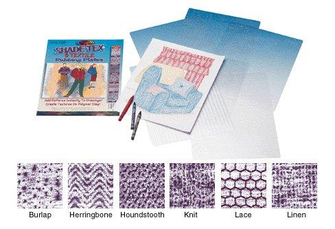 Scratch Art Shade-Tex Rubbing Plates textile set