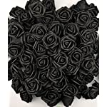 Lightingsky-7cm-DIY-Real-Touch-3D-Artificial-Foam-Rose-Head-Without-Stem-for-Wedding-Party-Home-Decoration-100pcs-Black