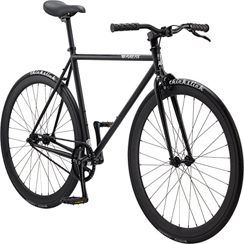 Pure Fix Original Fixed Gear Single Speed Bicycle, Juliet Matte Black, (Fixed Gear)